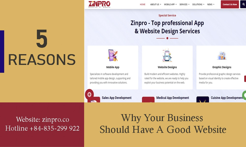 5 Reasons Why Your Business Should Have A Good Website
